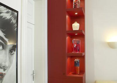 Wohnzimmer Detail - Umbauphase 1 Wohnung Bonn